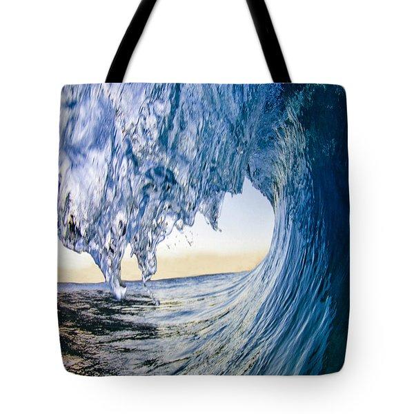 Blue Envelope - Vertical Tote Bag