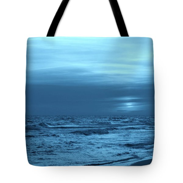 Blue Evening Tote Bag by Sandy Keeton