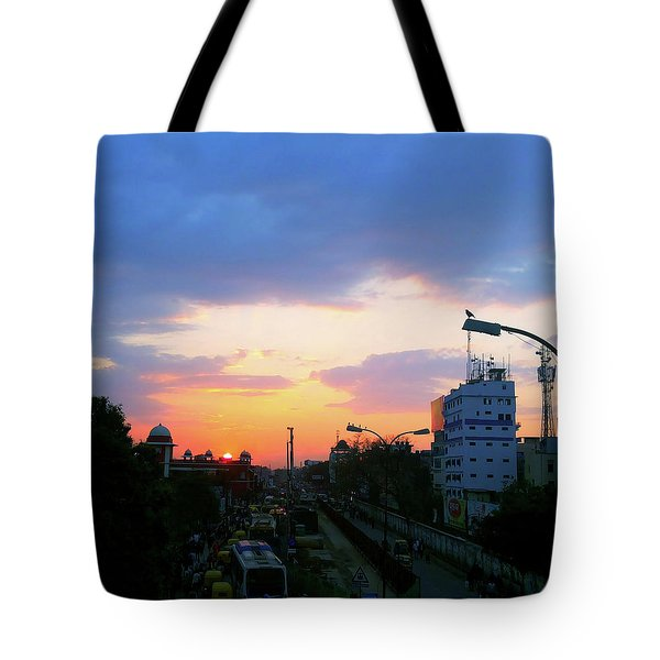 Blue Evening Sky Tote Bag
