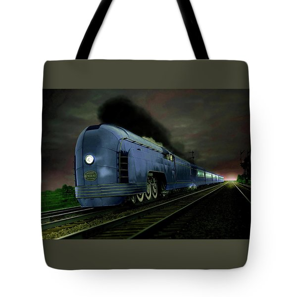 Blue Express Tote Bag