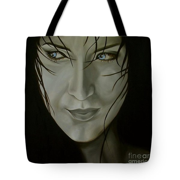 Blue-eyed Girl Tote Bag