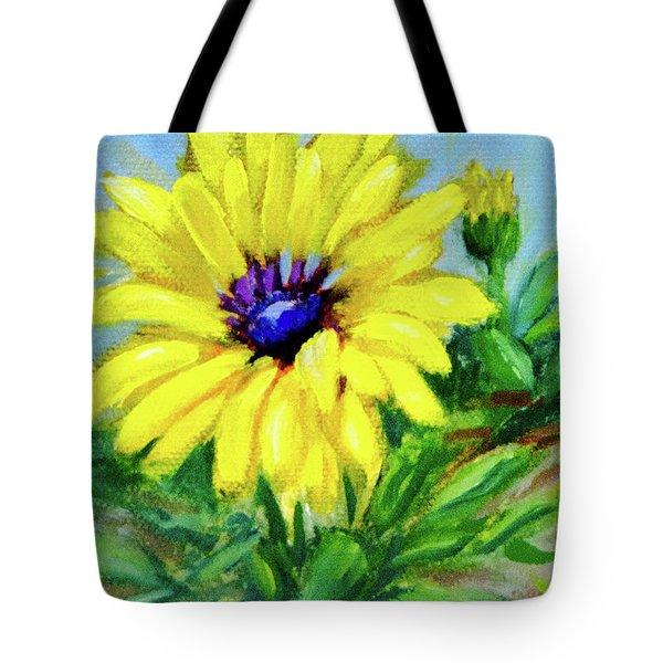 Blue Eyed Girl Tote Bag