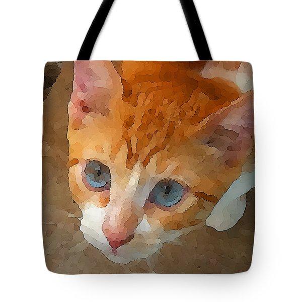 Blue Eyed Punk  Tote Bag