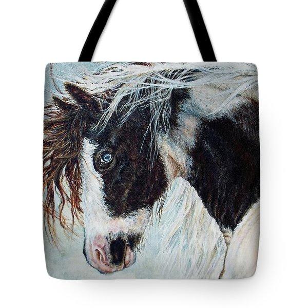 Blue Eyed Storm Tote Bag