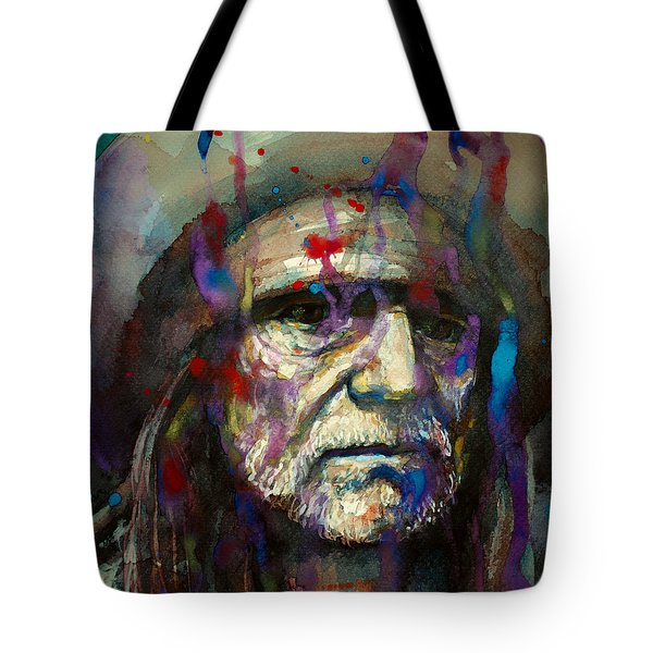 Blue Eyes Crying In The Rain Tote Bag
