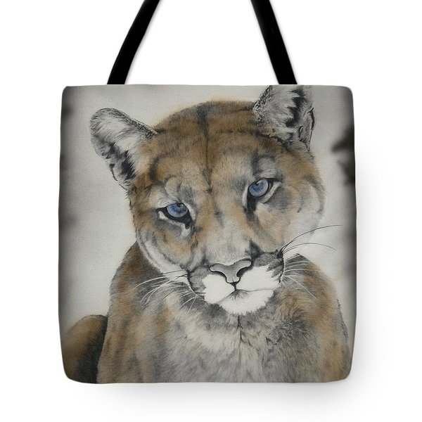 Blue Eyes Tote Bag by Lori Brackett