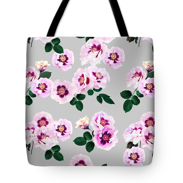Blue Eyes Roses Tote Bag