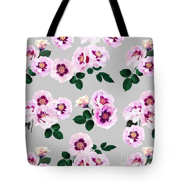Blue Eyes Roses Tote Bag