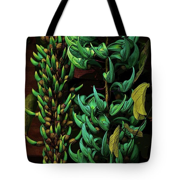 Blue Jade Vine Tote Bag