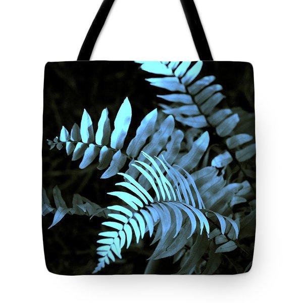 Blue Fern Tote Bag by Susanne Van Hulst