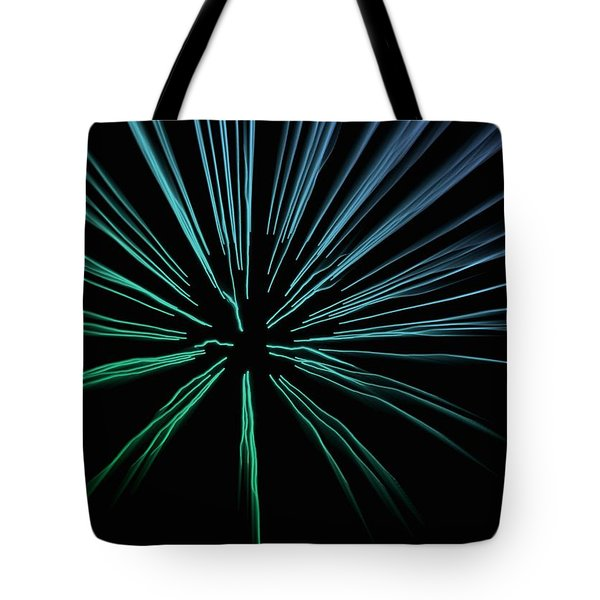 Tote Bag featuring the photograph Blue Firework by Chris Berry