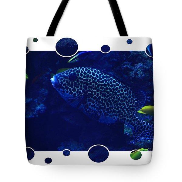 Blue Fish Tote Bag by Carol Groenen