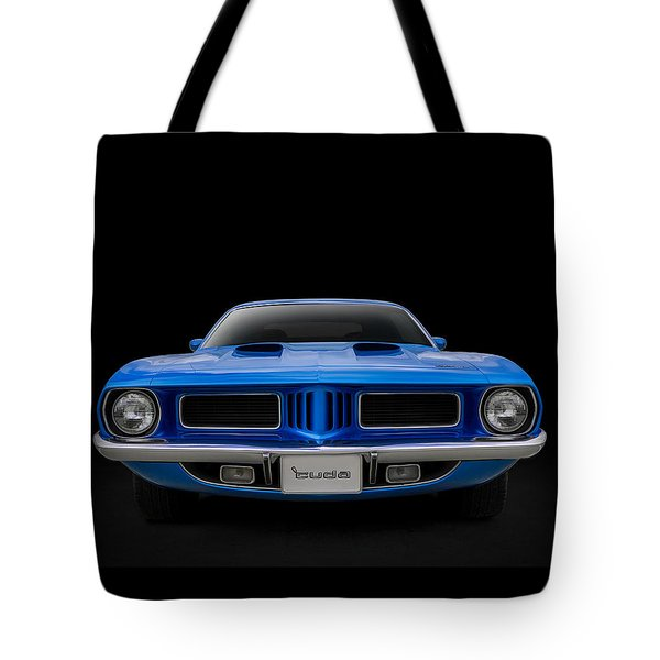 Tote Bag featuring the digital art Blue Fish by Douglas Pittman
