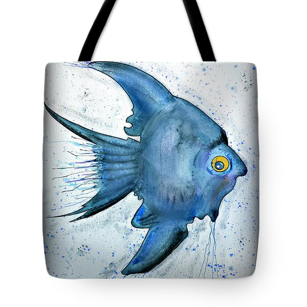 Tote Bag featuring the photograph Blue Fish by Walt Foegelle