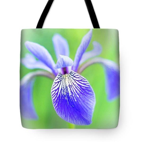 Blue Flag Iris As A Bee Sees It Tote Bag