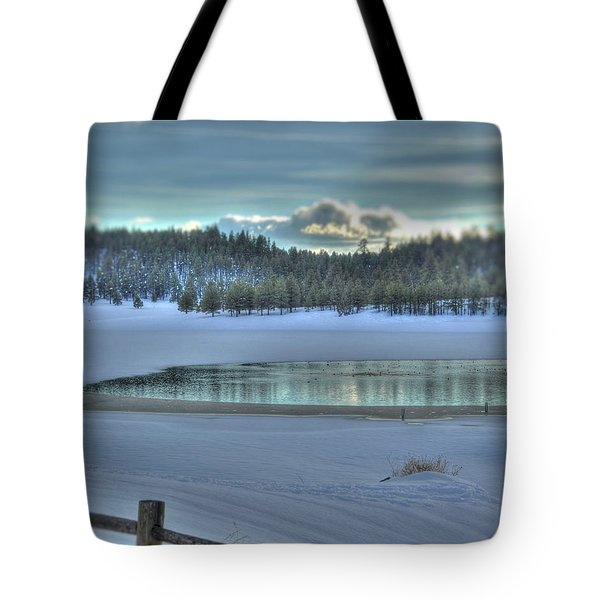 Blue Flagstaff  Tote Bag by Kelly Wade