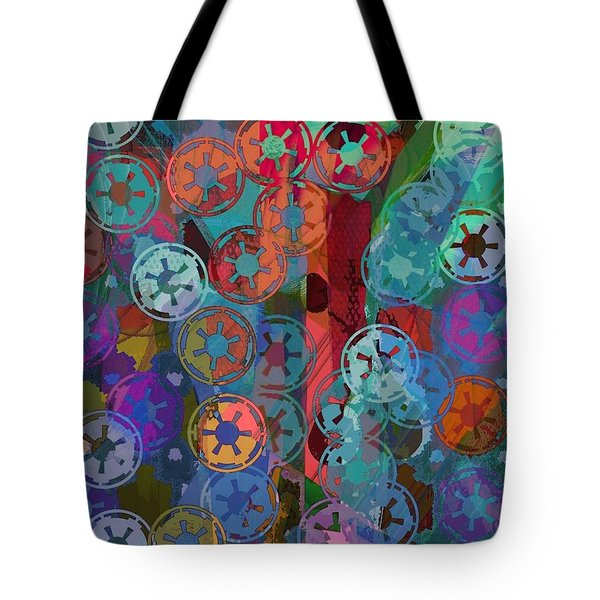 Blue Flakes Tote Bag