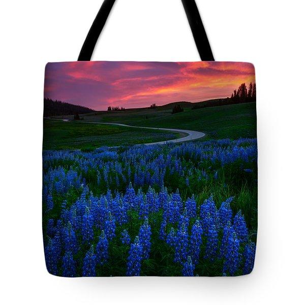 Blue Flame Tote Bag by Dustin  LeFevre