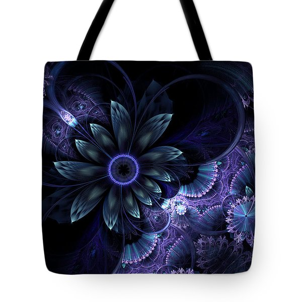 Blue Fleur And Lace Tote Bag