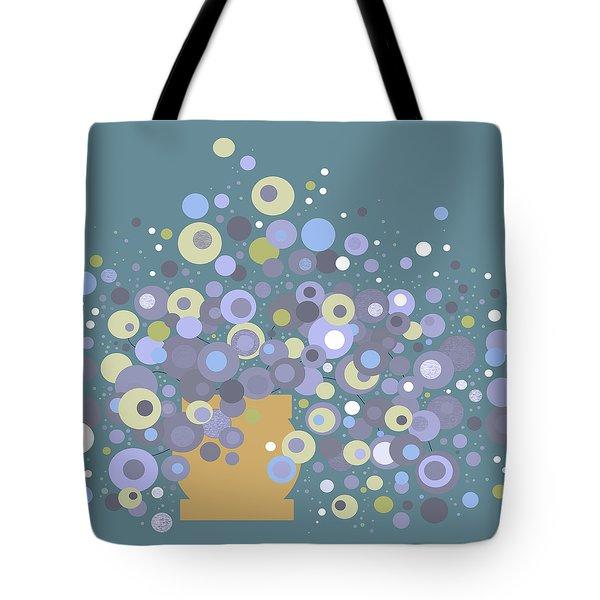 Blue Flora  Tote Bag