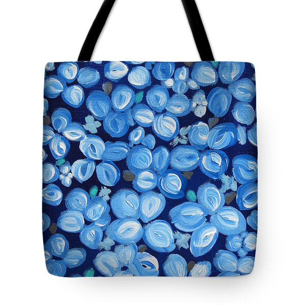 Blue Floral Frenzy Tote Bag