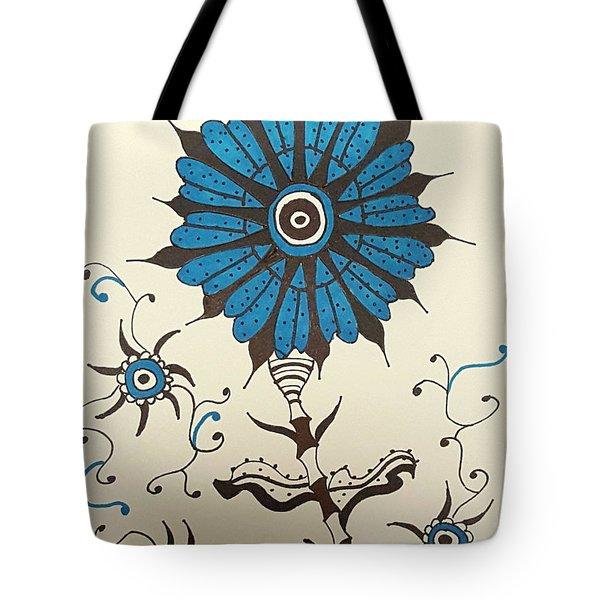 Blue Flower 1 Tote Bag