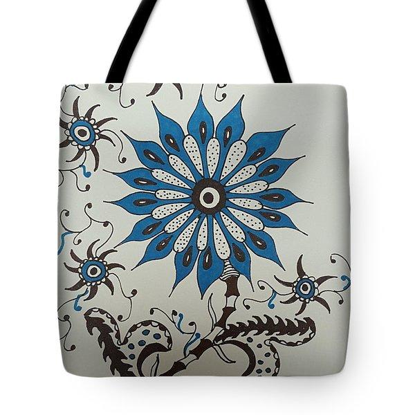 Blue Flower 3 Tote Bag