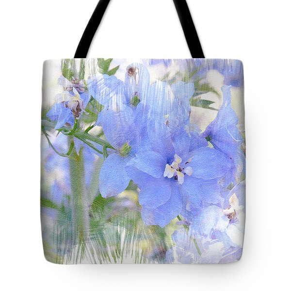 Tote Bag featuring the photograph Blue Flower Fantasy by Michele A Loftus