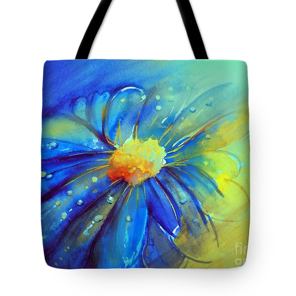 Blue Flower Offering Tote Bag by Allison Ashton