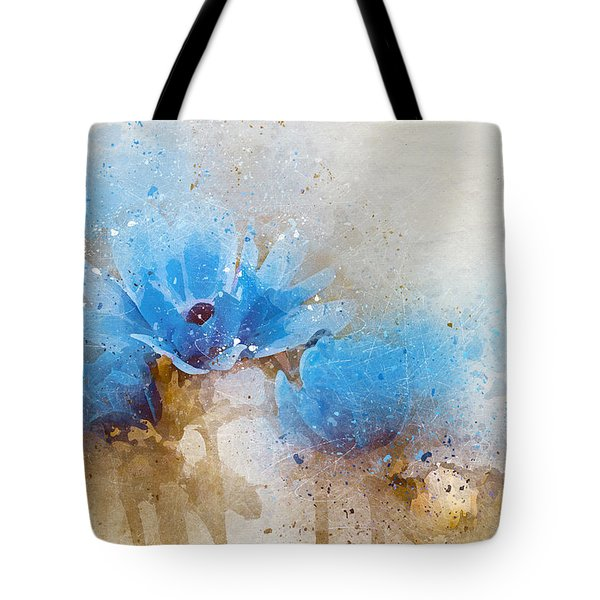 Blue Flowers 4a Tote Bag