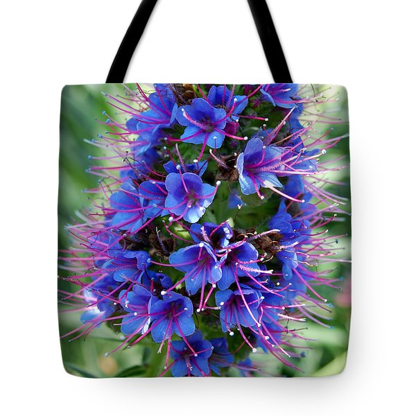 Blue Flowers Tote Bag by Amy Fose