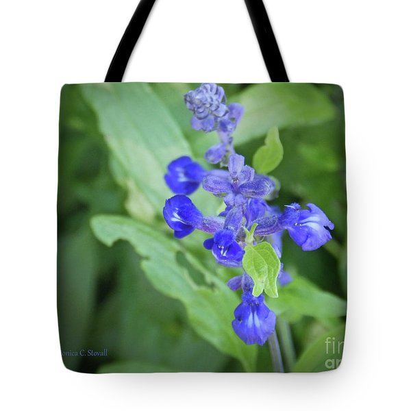 Blue Flowers B7 Tote Bag