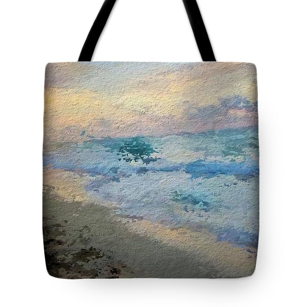 Blue Foam Tote Bag