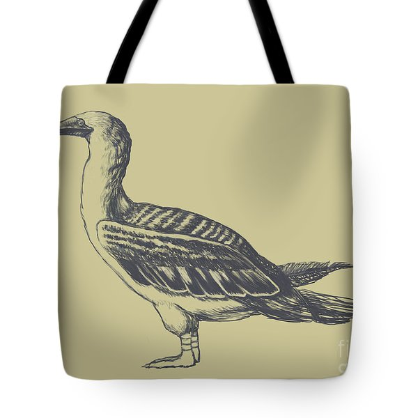 Blue-footed Booby, Illustration Tote Bag