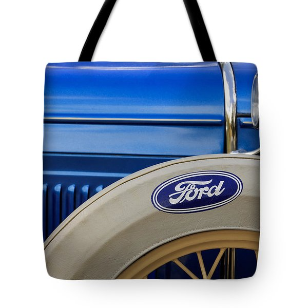 Blue Ford Tote Bag