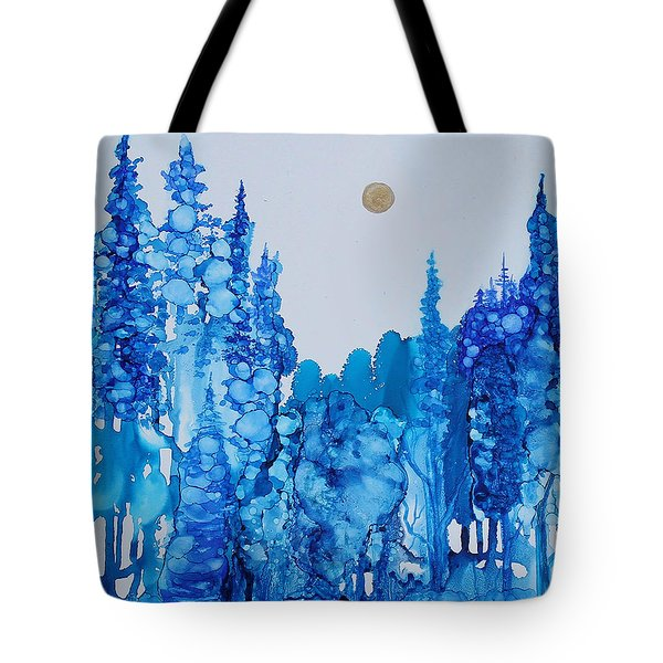 Blue Forest Tote Bag by Suzanne Canner