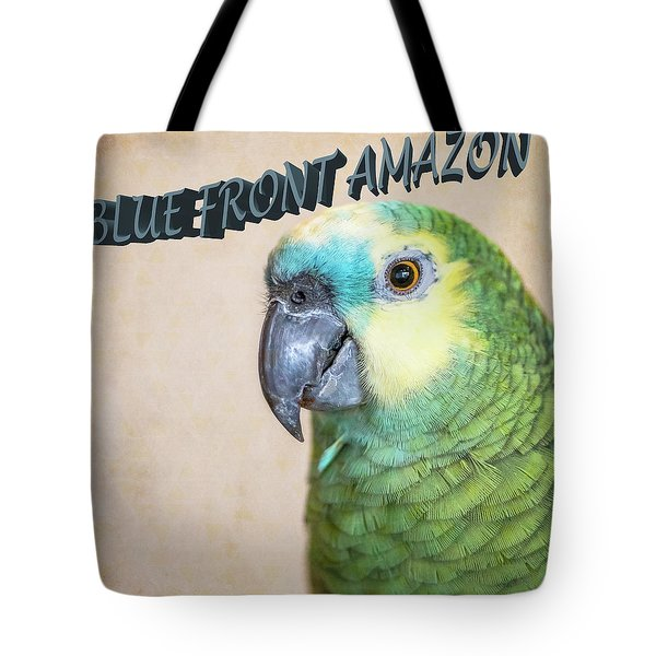 Blue Front Amazon Tote Bag