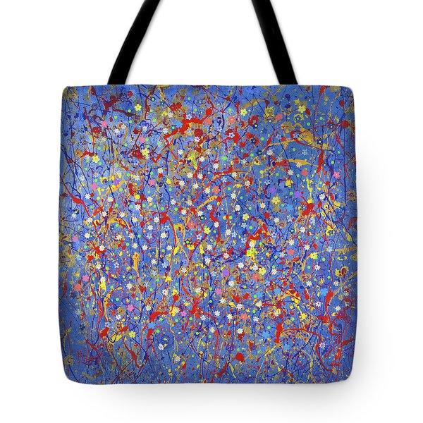 Blue Fusion Tote Bag