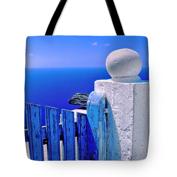 Blue Gate Tote Bag by Silvia Ganora