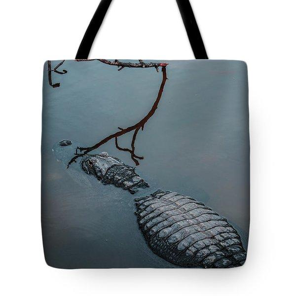 Blue Gator Tote Bag