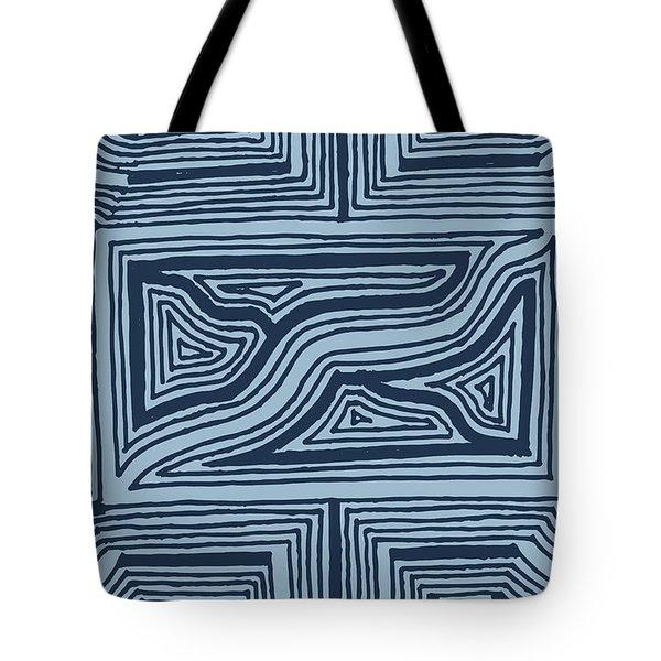 Blue Geo Tote Bag