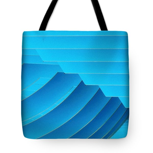 Blue Geometric Abstract 1 Tote Bag