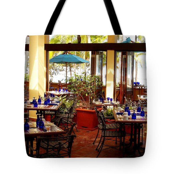 Blue Glass Settings Tote Bag