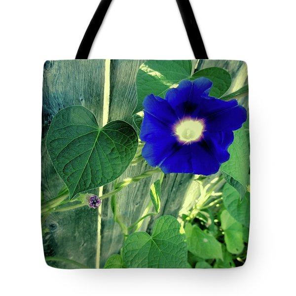 Blue Glory Bloom Tote Bag