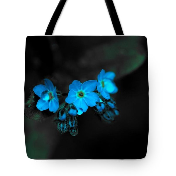 Blue Glow Tote Bag