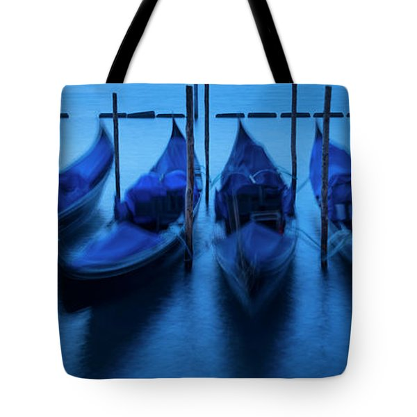 Tote Bag featuring the photograph Blue Gondolas by Brian Jannsen