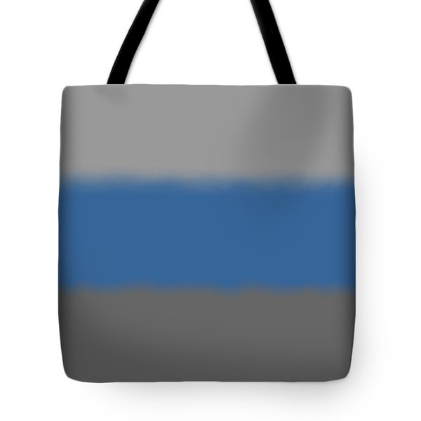 Blue-gray Storm - Sq Block Tote Bag