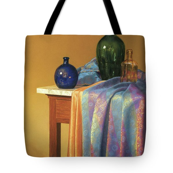 Blue Green And Gold Tote Bag by Barbara Groff