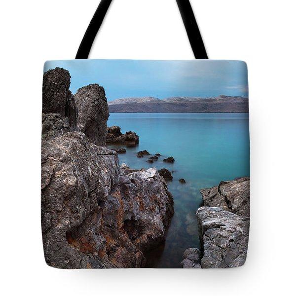 Blue, Green, Gray Tote Bag