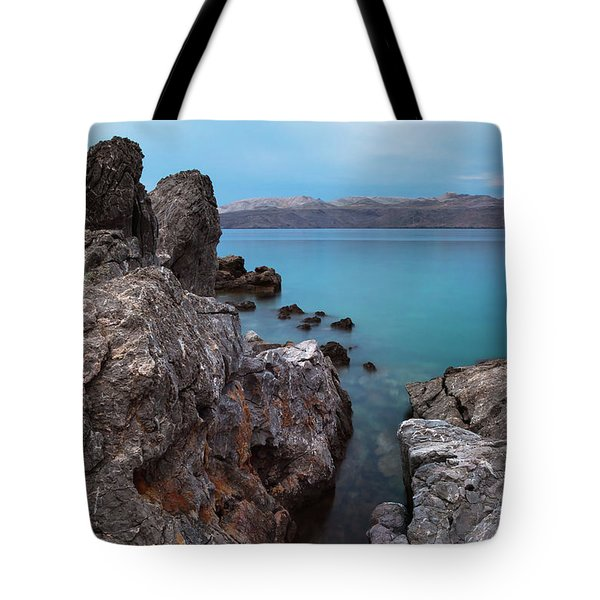Tote Bag featuring the photograph Blue, Green, Gray by Davor Zerjav